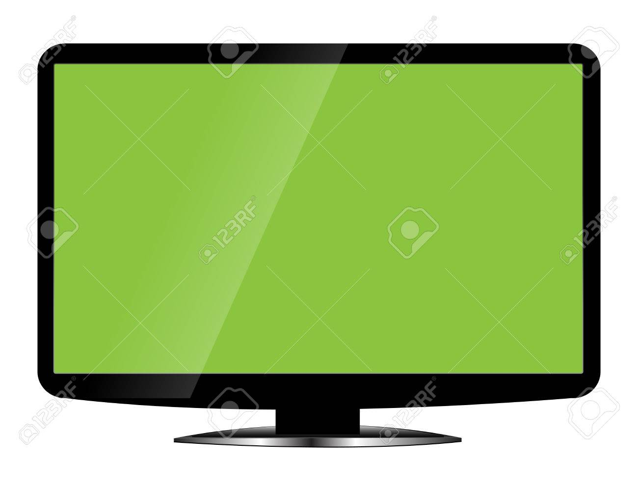 Blank Lcd Tv Template Royalty Free Cliparts, Vectors, And Stock ...