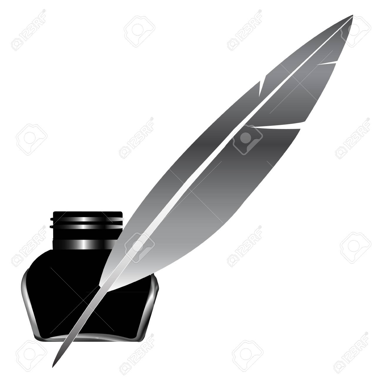 Quill Pen Inkwell - 26027581