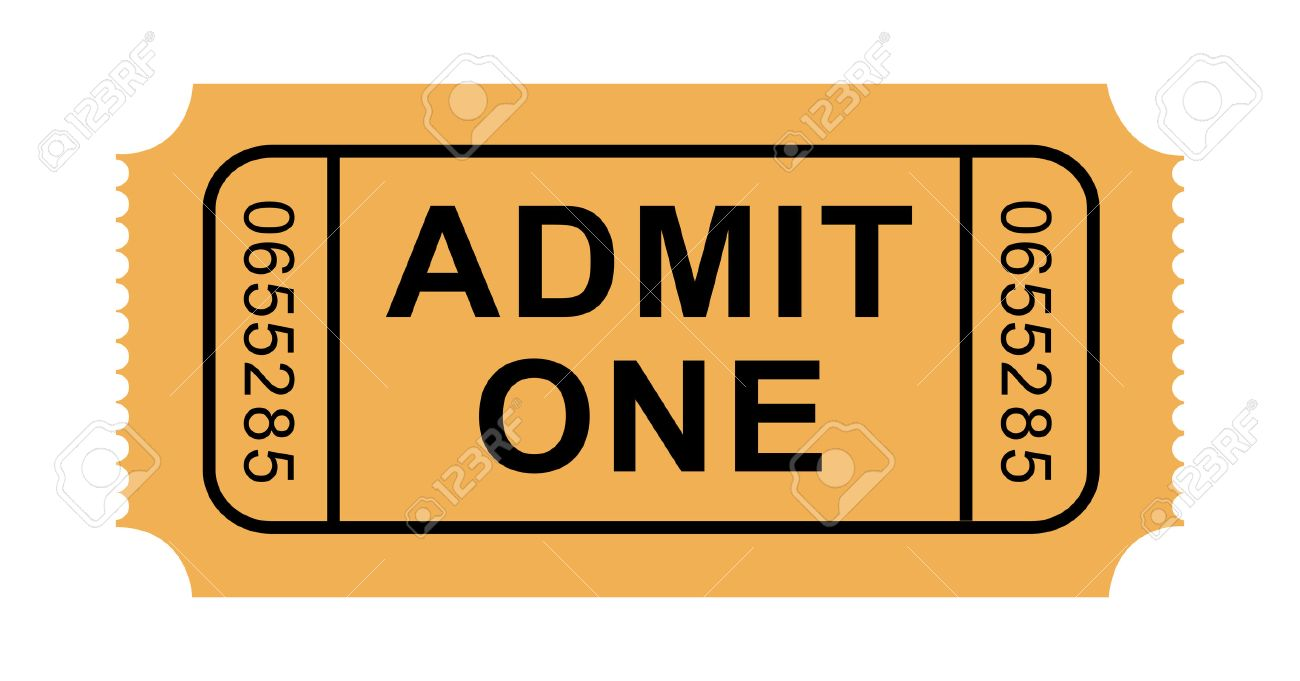 Illustration of Admission Ticket - 26309046