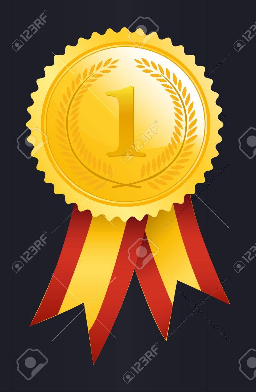 Number One winner ribbon - 26309551