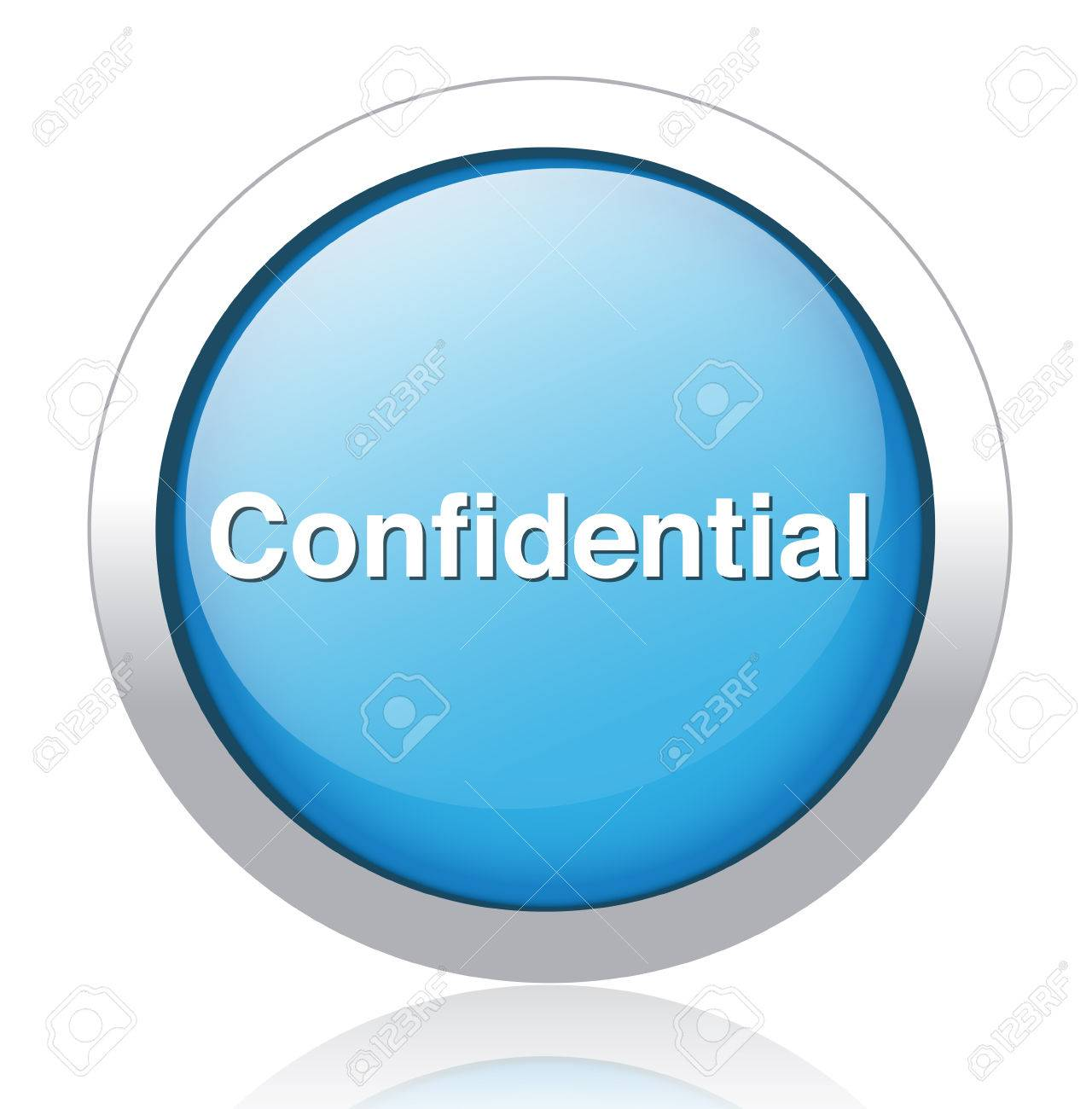 confidential top secret classified private information  button Stock Vector - 26699679
