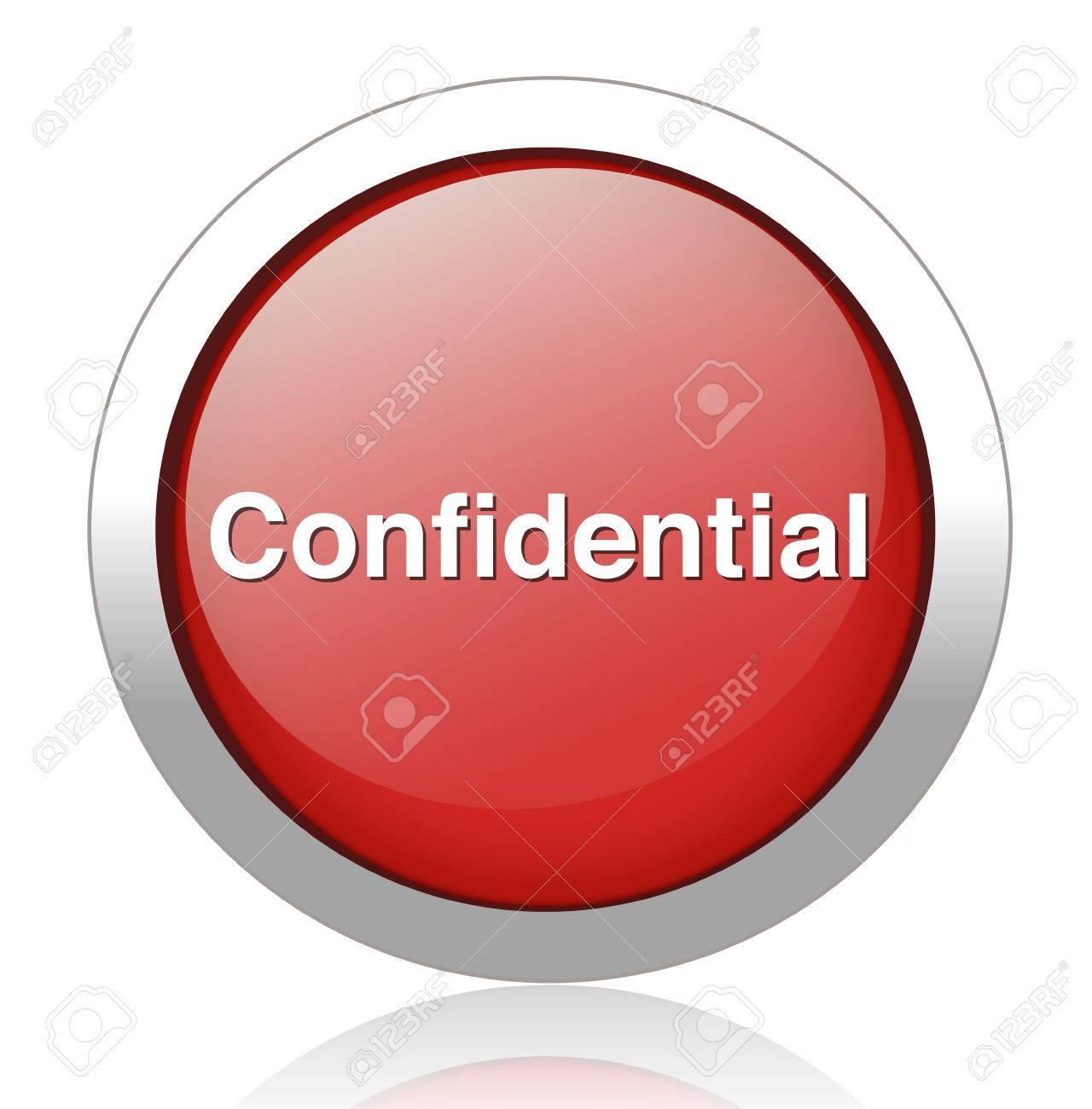 confidential top secret classified private information  button Stock Vector - 27748738