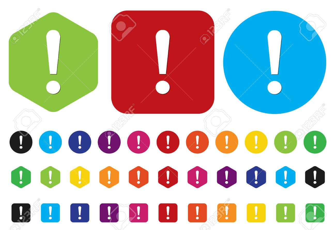 warning attention sign with exclamation mark symbol Stock Vector - 28212966