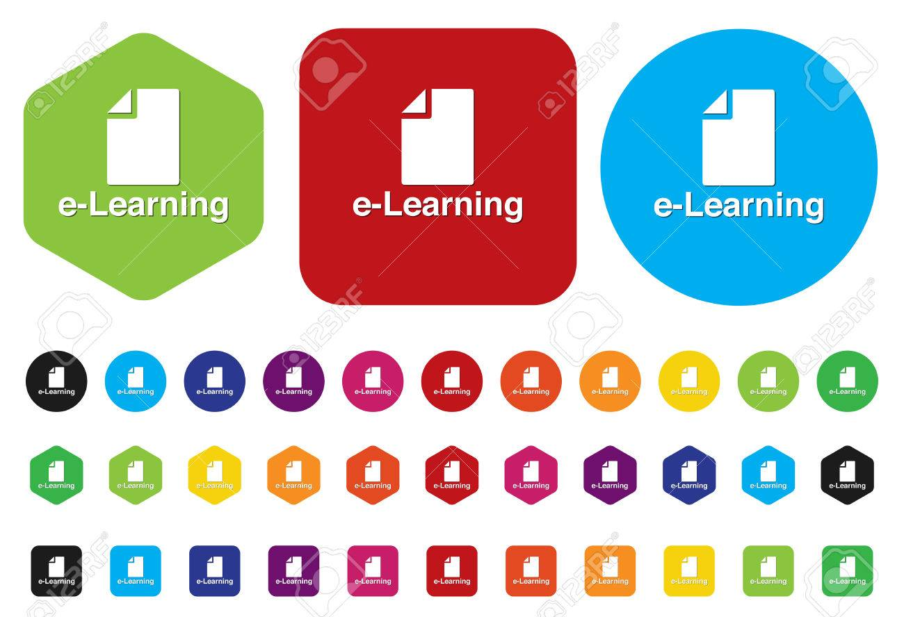 E Learning Icon Royalty Free Cliparts Vectors And Stock Illustration Image 28211082