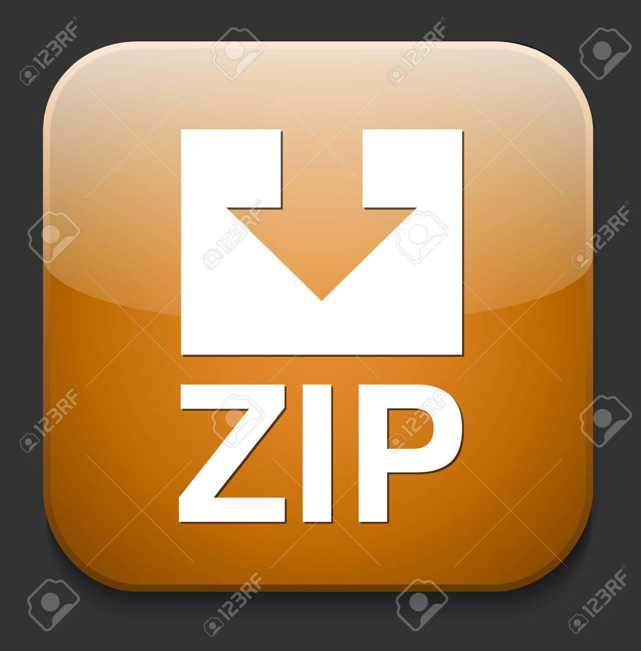 Zip file icon Stock Vector - 28679960