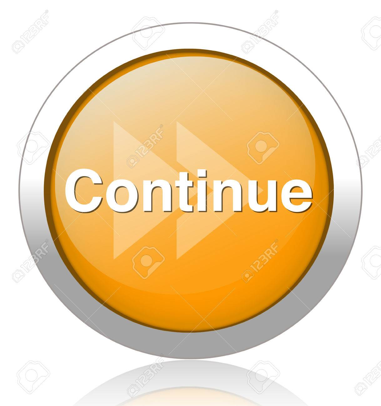Continue Button Royalty Free C...