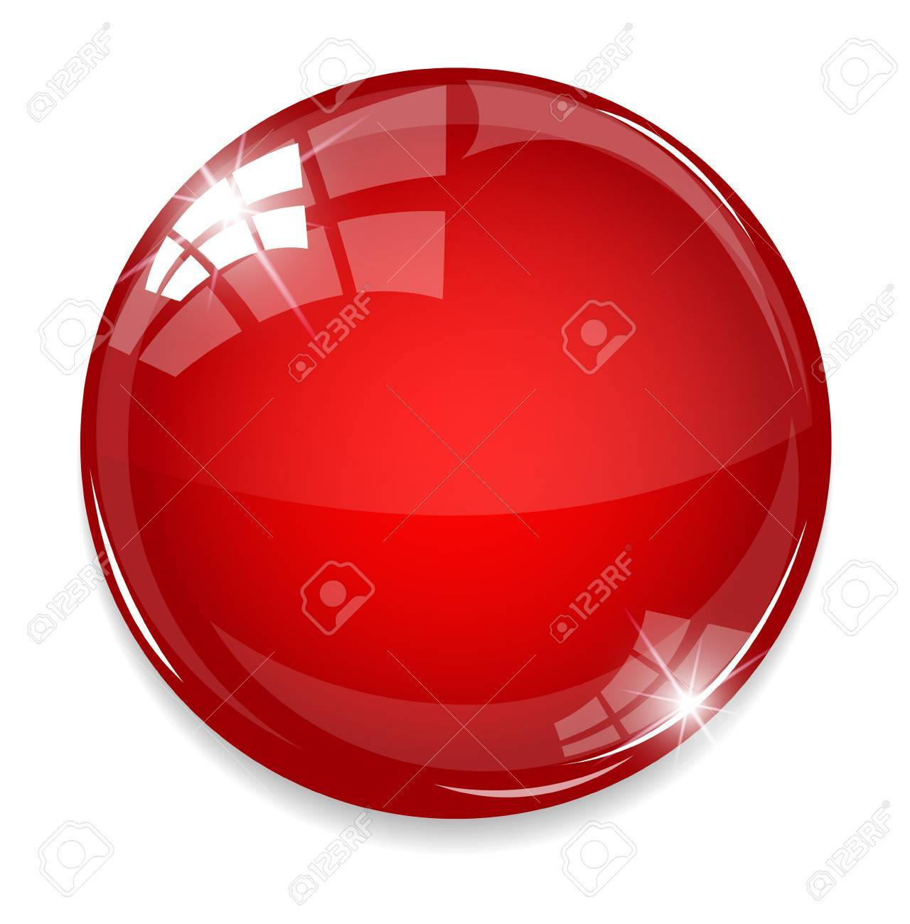 Empty red button - 32210971