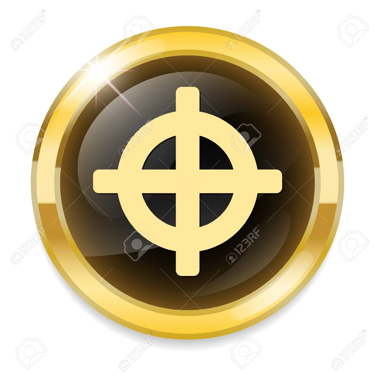 Crosshair sign icon target aim symbol royalty free cliparts target aim symbol stock vector 32360725 buycottarizona Image collections