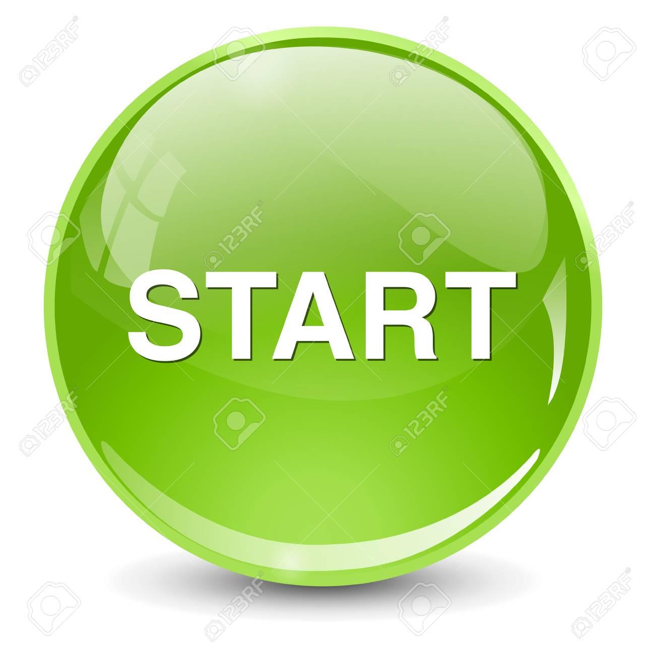 Botón START Ilustraciones Vectoriales, Clip Art Vectorizado Libre ...