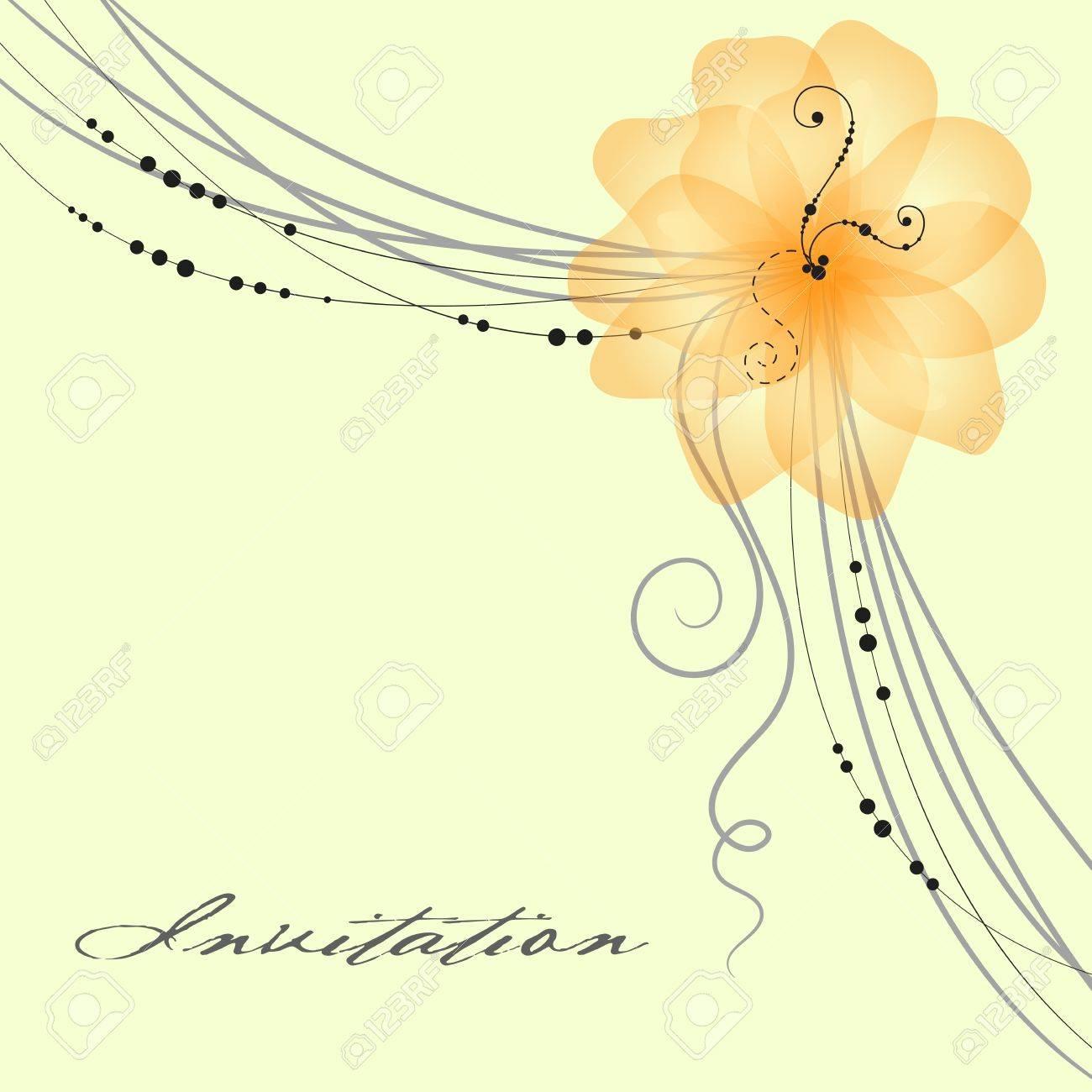 Floral wedding card illustration Stock Vector - 12827041