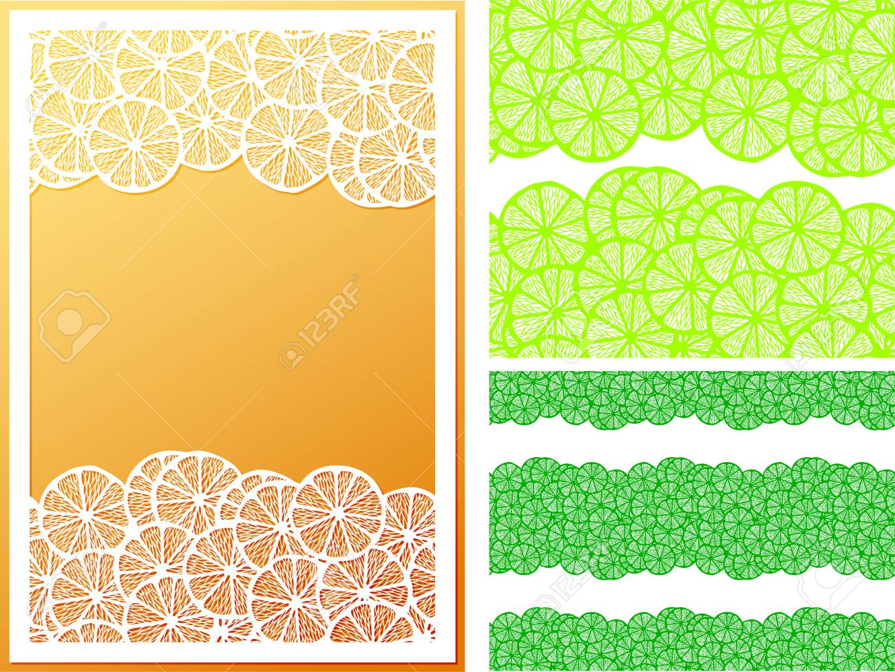 Patrón De Rodajas De Limón Transparente Horizontal Con Usos De ...