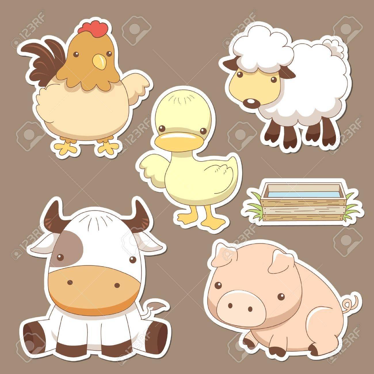 Animals farm set Stock Vector - 14366118