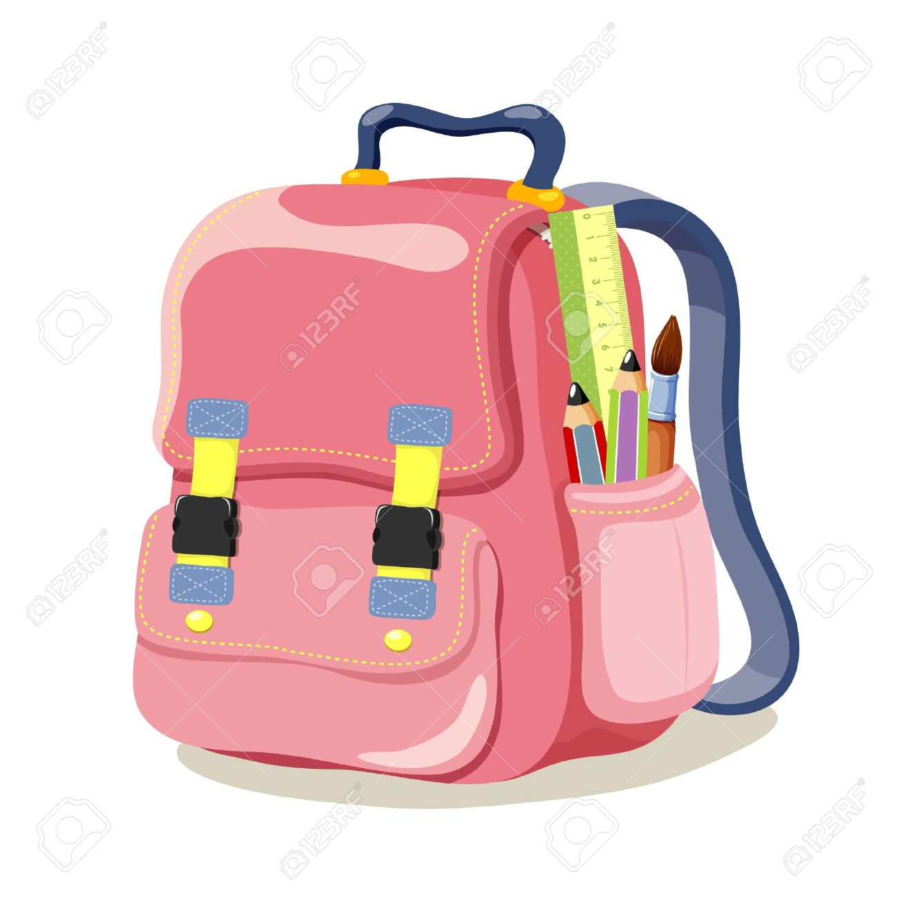 2cc984d476e School Backpack Royalty Free Cliparts, Vectors, And Stock ...