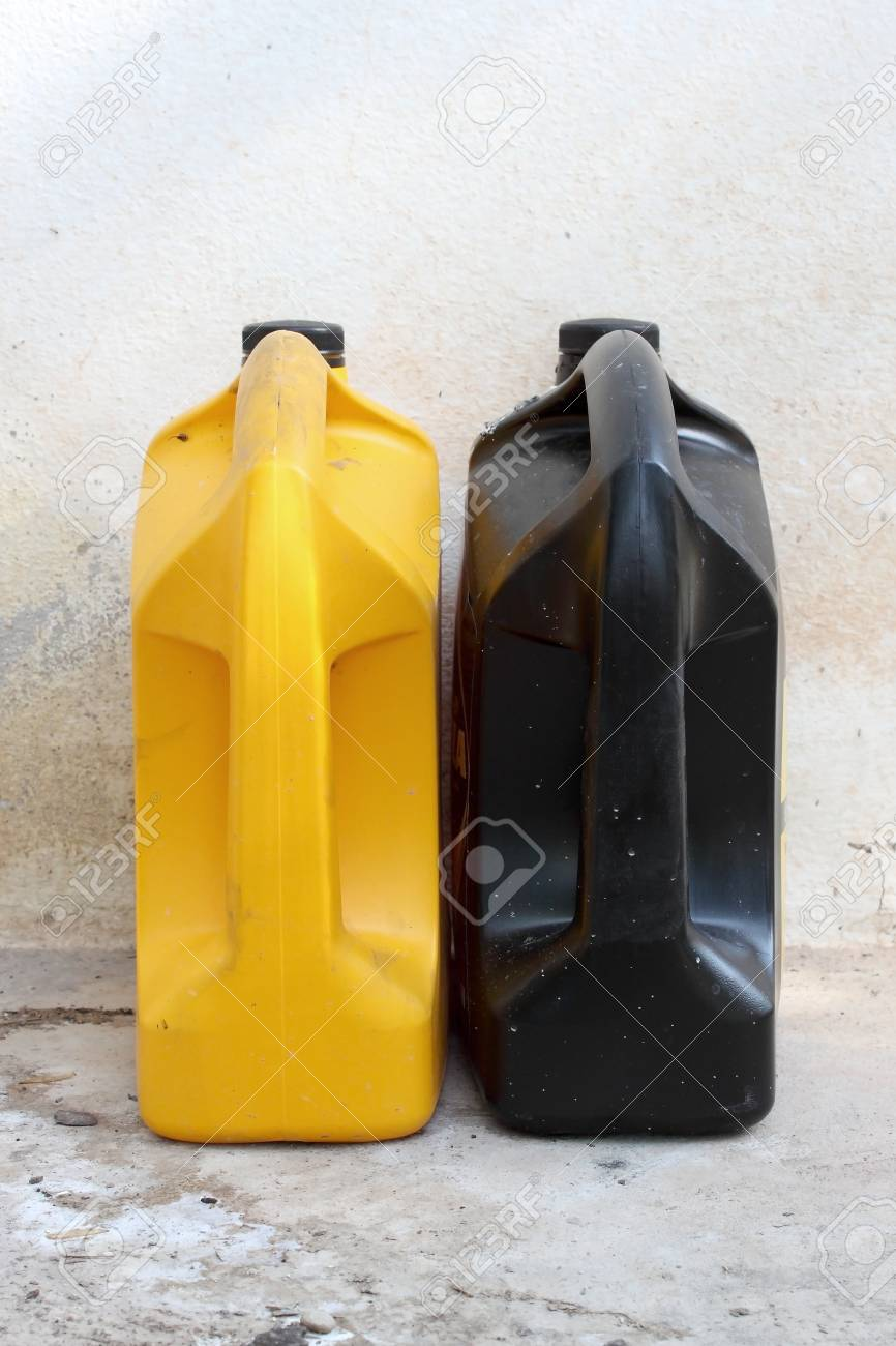 Yellow and black oil container Stock Photo - 14496802