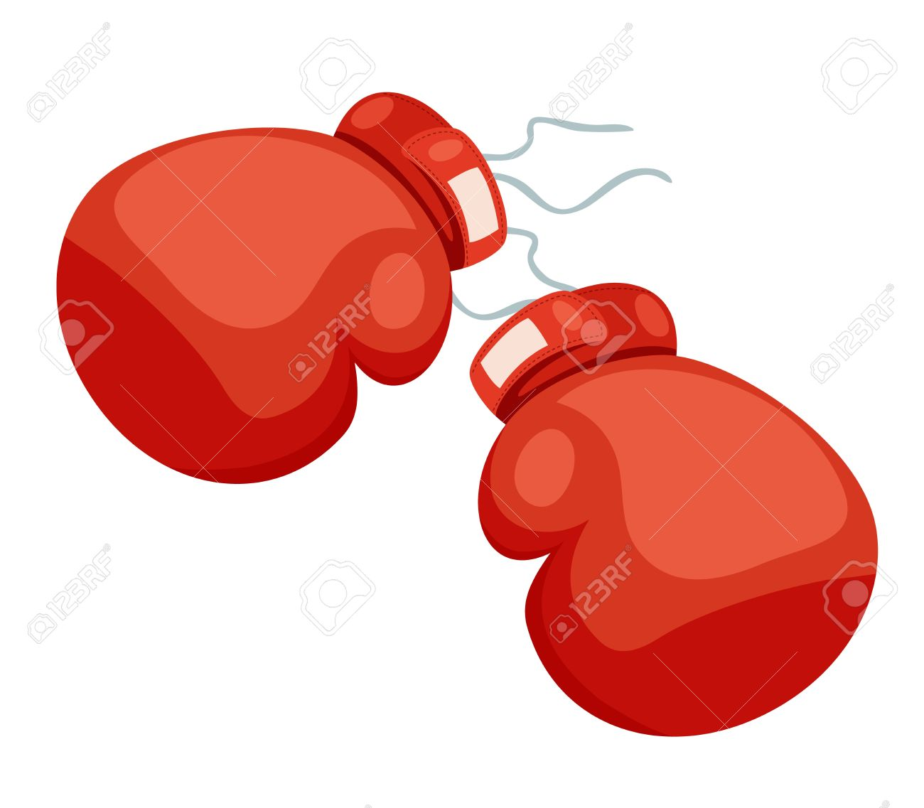 A two boxing glove on a white Stock Vector - 14763050