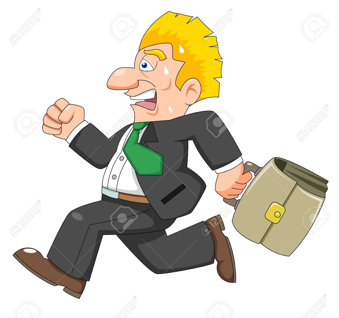 business man is running Stock Vector - 14763057