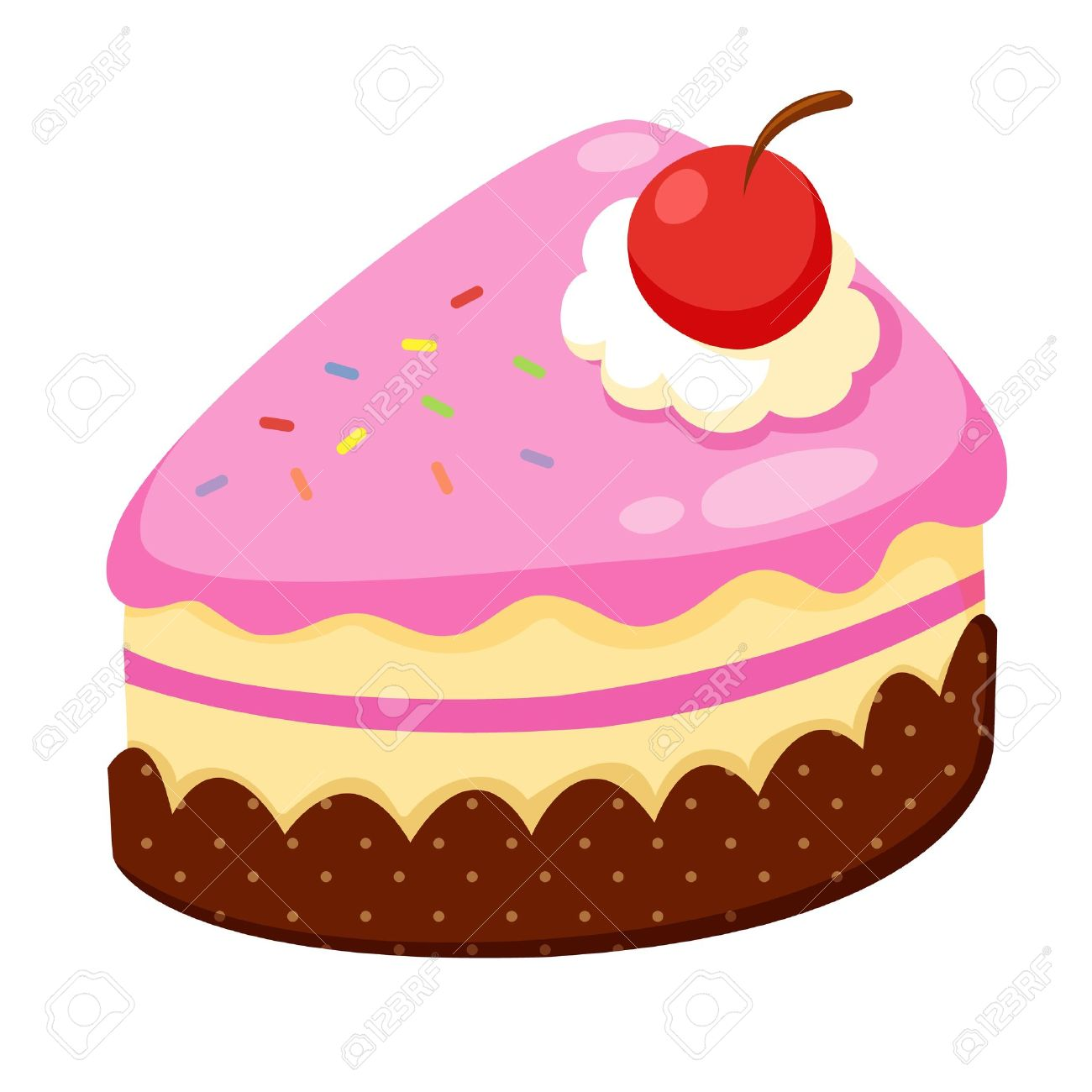 strawberry cake royalty free cliparts vectors and stock rh 123rf com cartoon cake images with name edit cake cartoon images hd