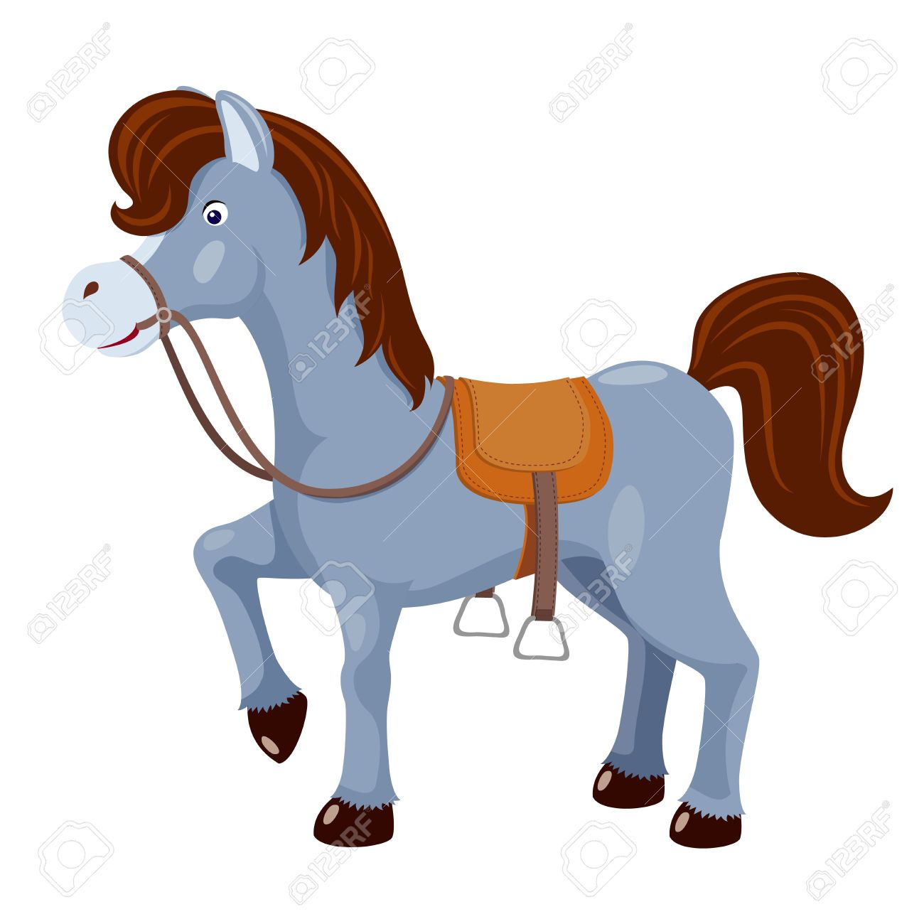 Cute Horse With Saddle Vector Royalty Free Cliparts Vectors And Stock Illustration Image 14884239