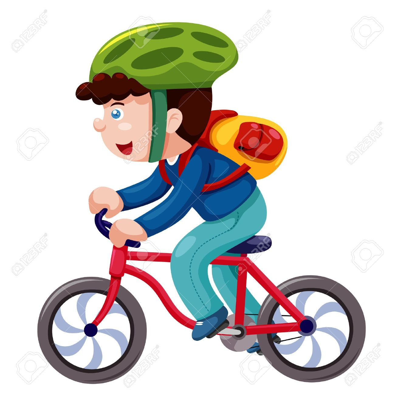 Boy on a bicycle vector Stock Vector - 14884261