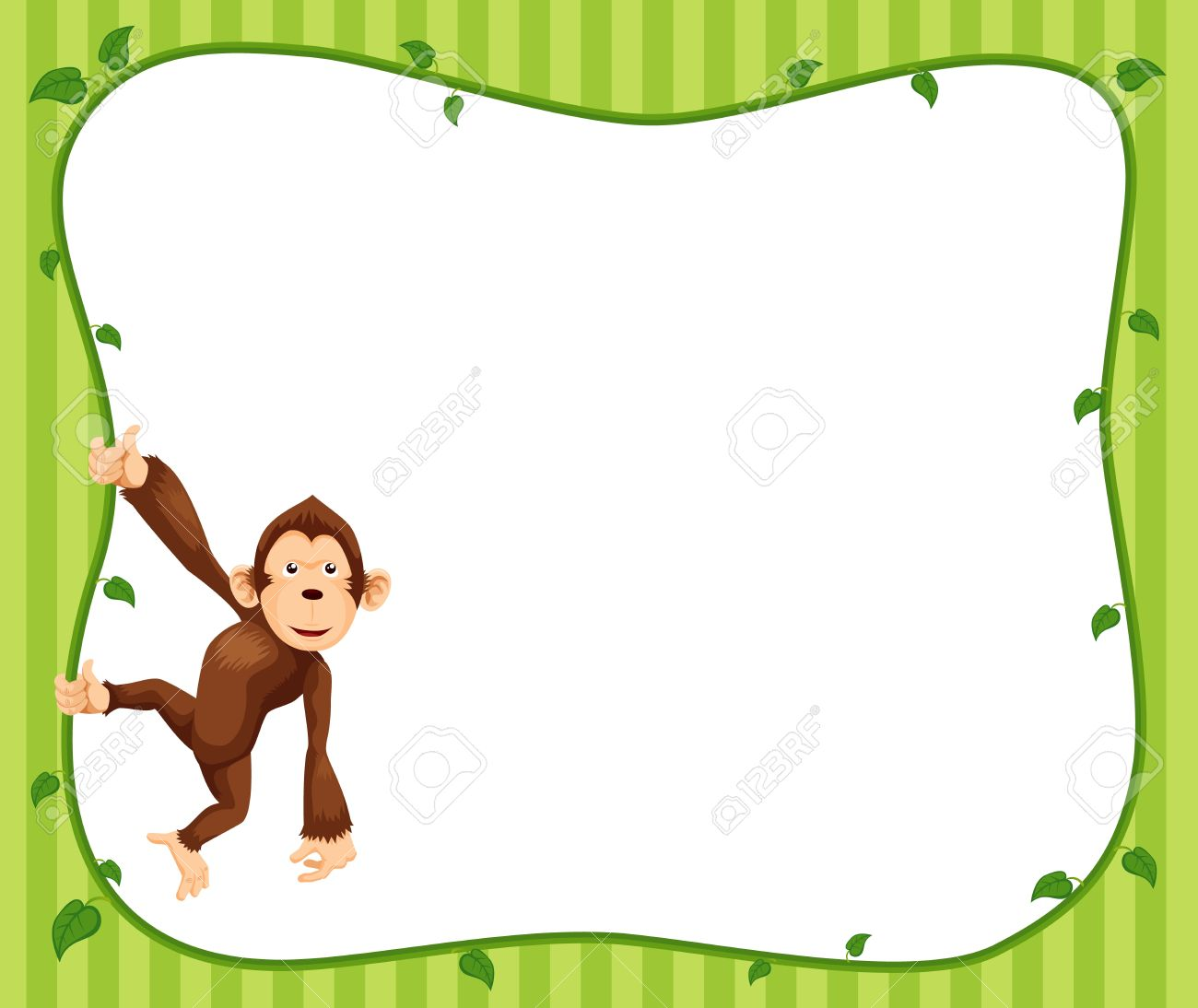 illustration of monkeys frame vector royalty free cliparts