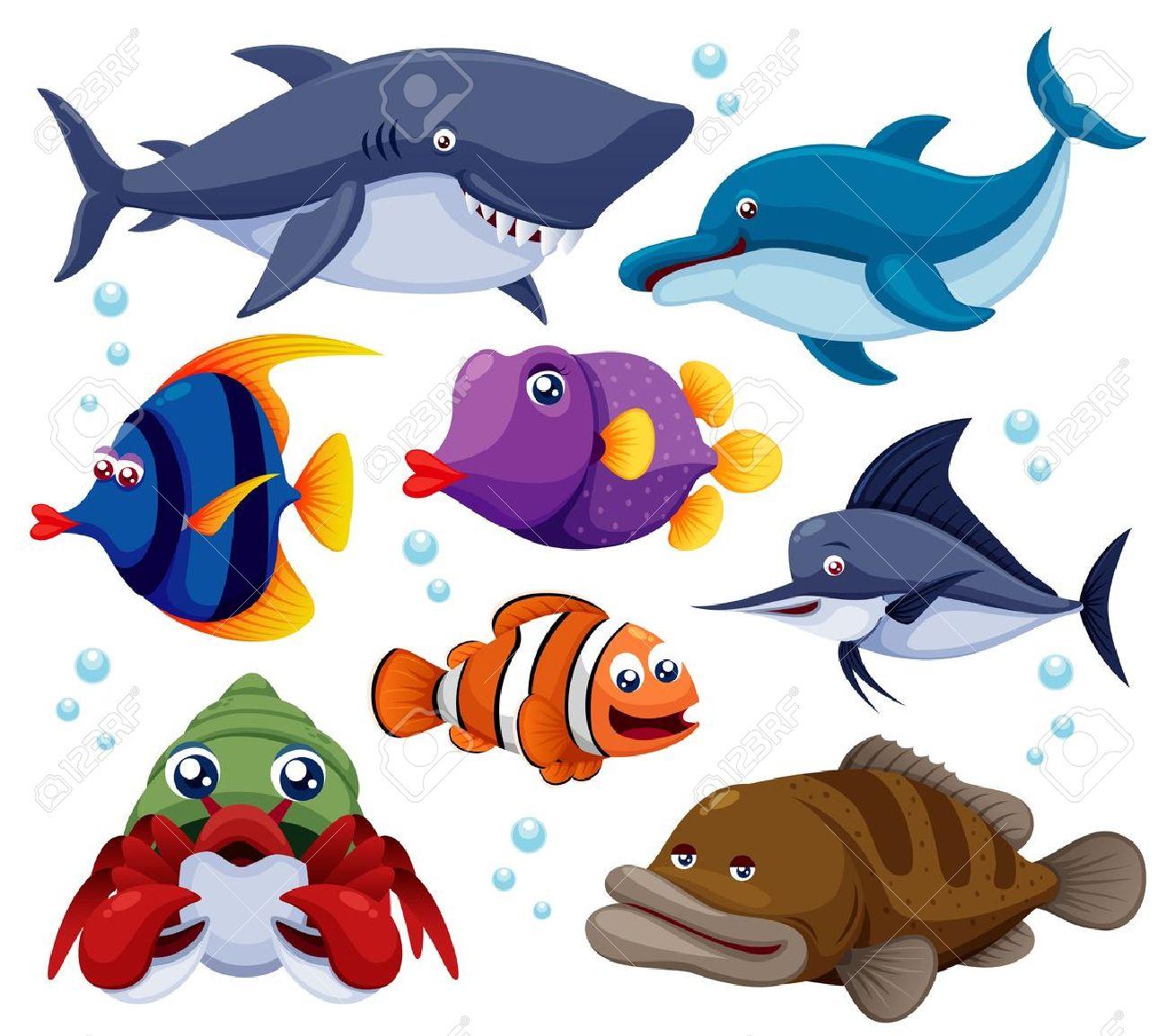 魚海のイラスト ロイヤリティフリークリップアート、ベクター、ストック