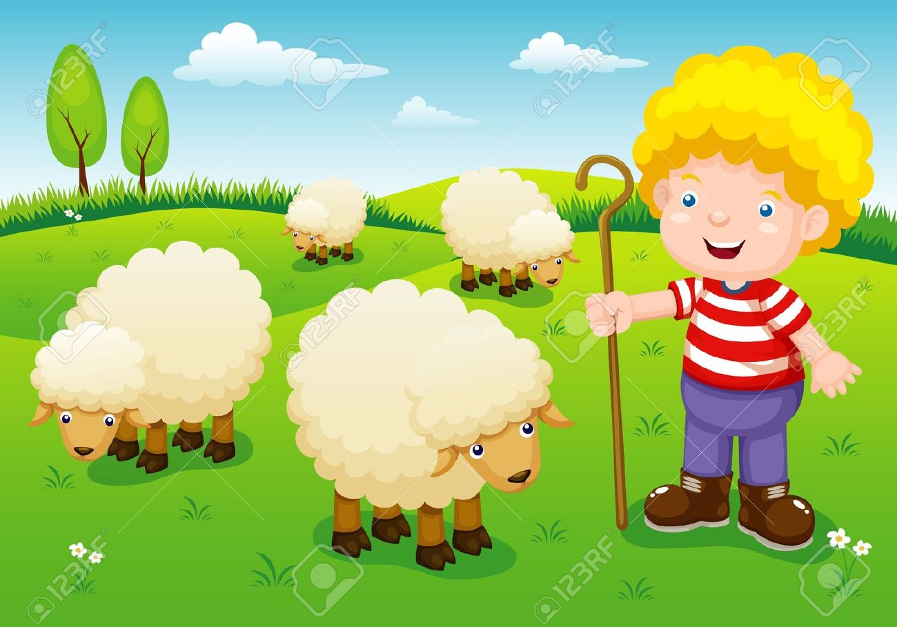 illustration little shepherd Stock Vector - 15063109