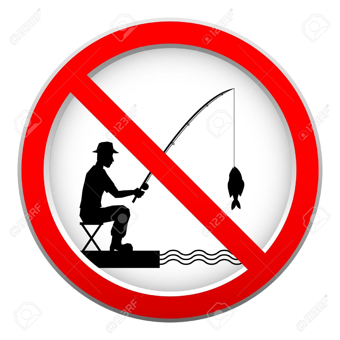 Image result for GOOGLE CLIP ART OF SIGN OF NO FISHING ALLOWED