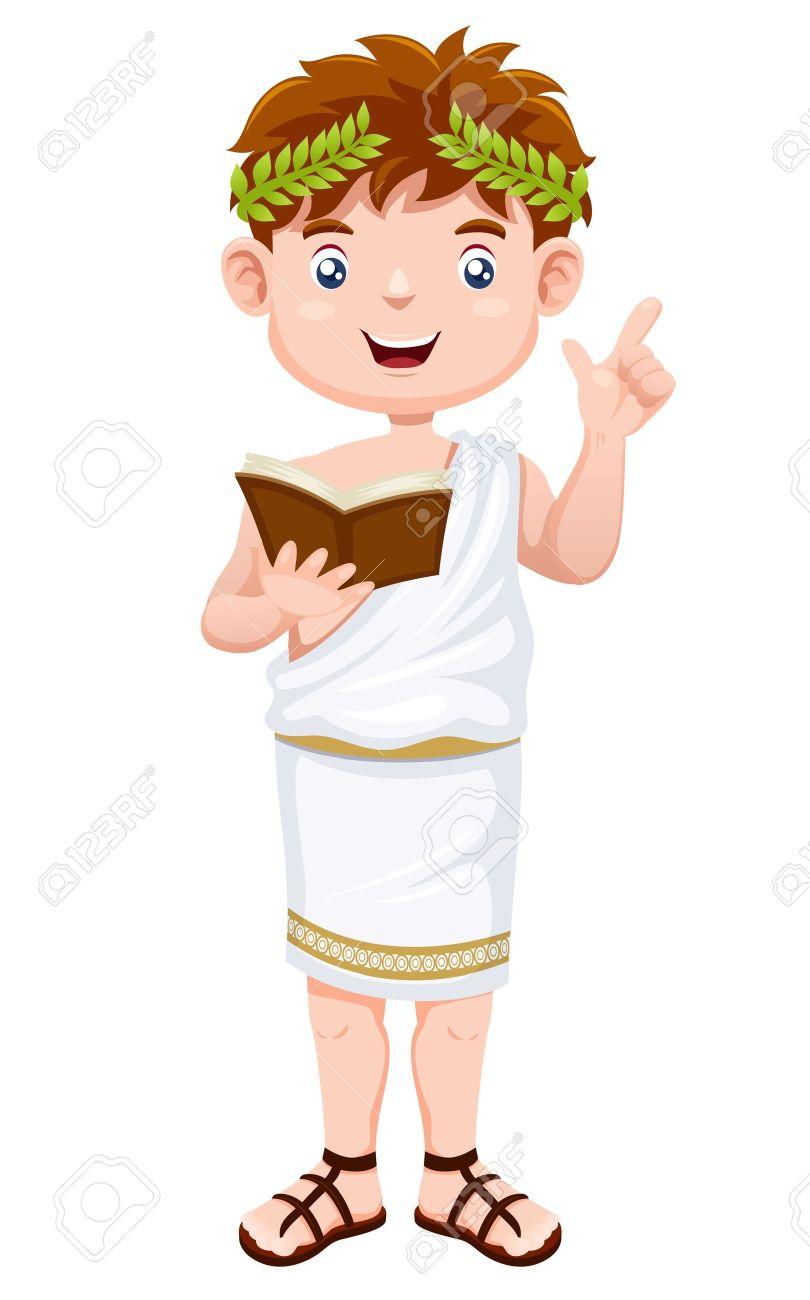 Ancient greek man cartoon Stock Vector - 15148150