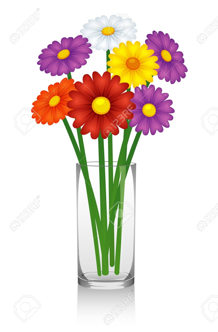 Flowers In Vase Royalty Free Cliparts Vectors And Stock