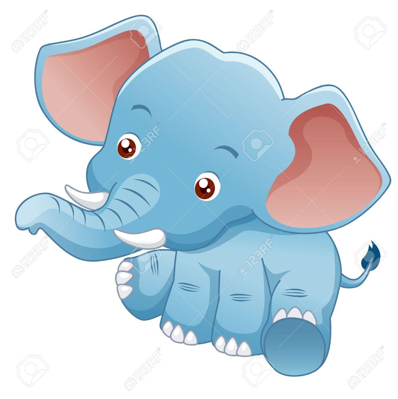 illustration Little Elephant Stock Vector - 15247817