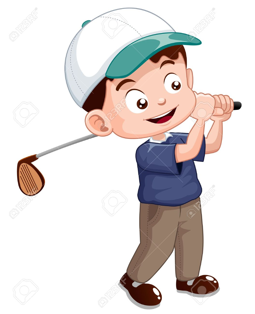 Illustration Of Young Golf Player Royalty Free Cliparts Vectors And Stock Illustration Image 15247767