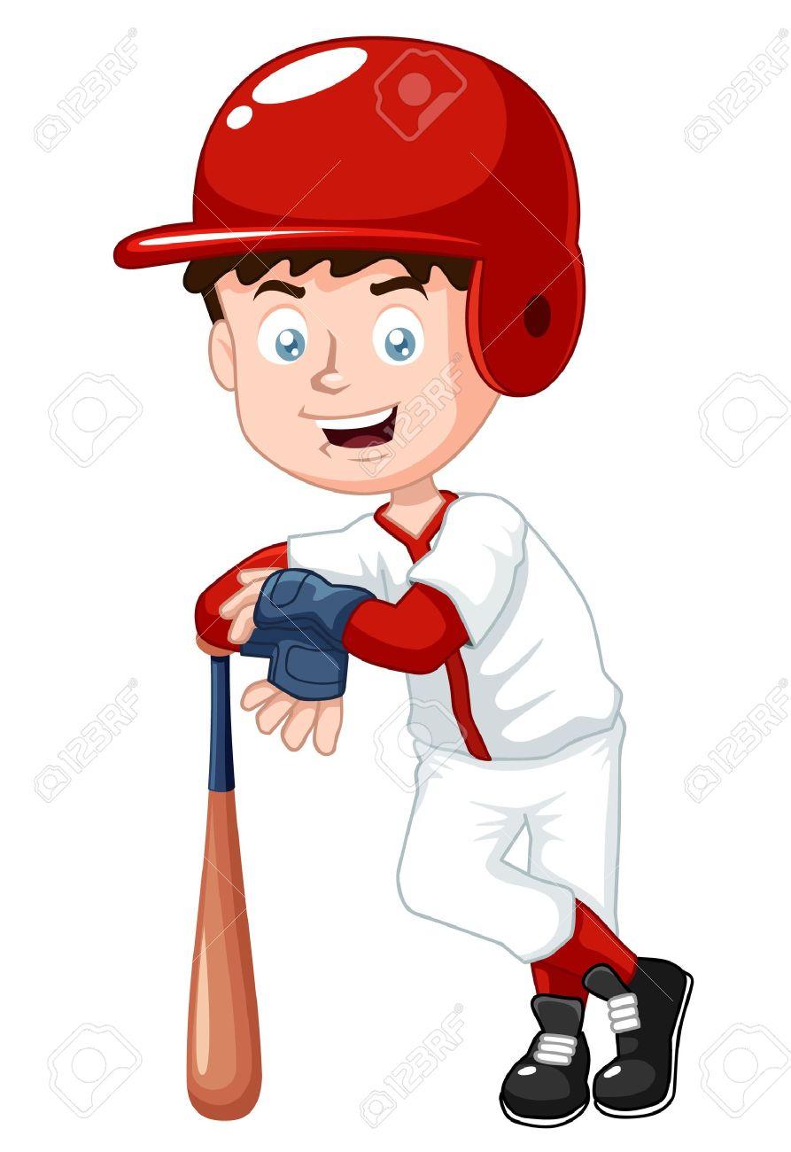 illustration of boy baseball player royalty free cliparts vectors rh 123rf com Baseball Vector Logo Baseball Vector Logo