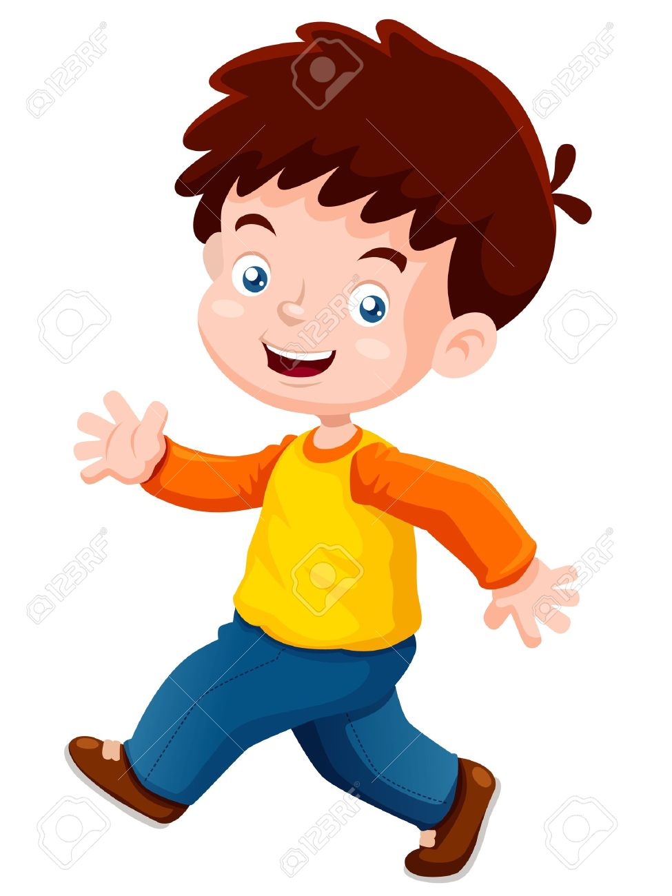 vector illustration of boy happy - Cartoon Picture Of Child
