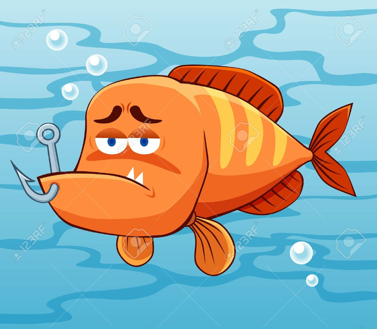 illustration of fish with Fishing Hook Stock Vector - 15562120
