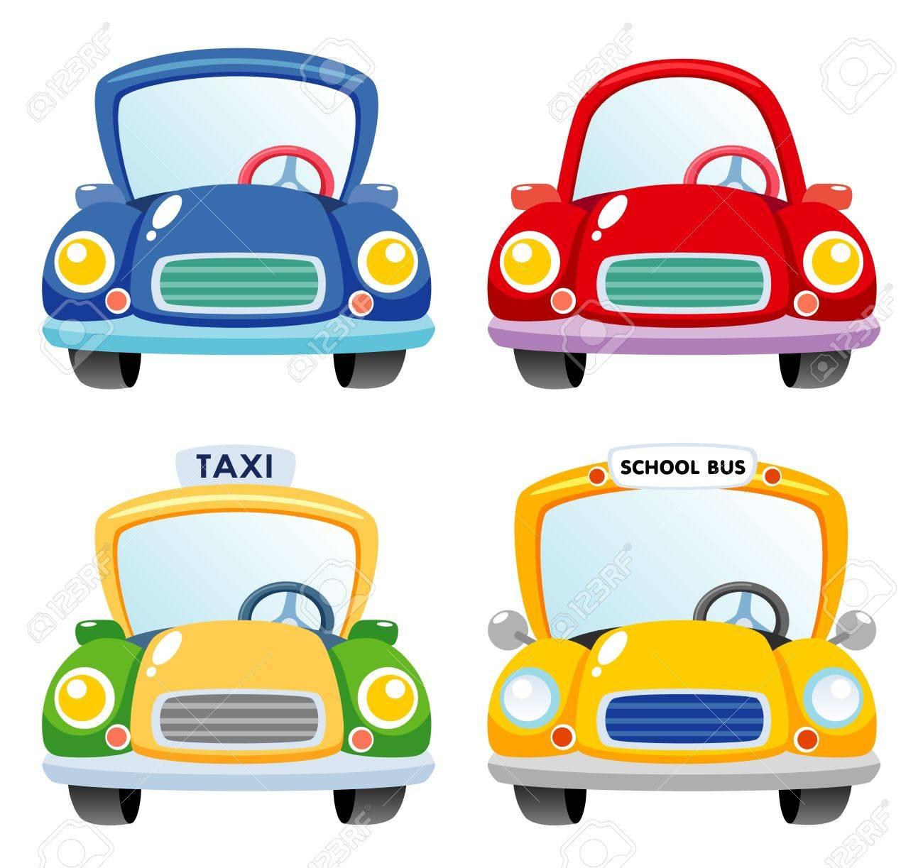 Illustration of a Car set - 15592302