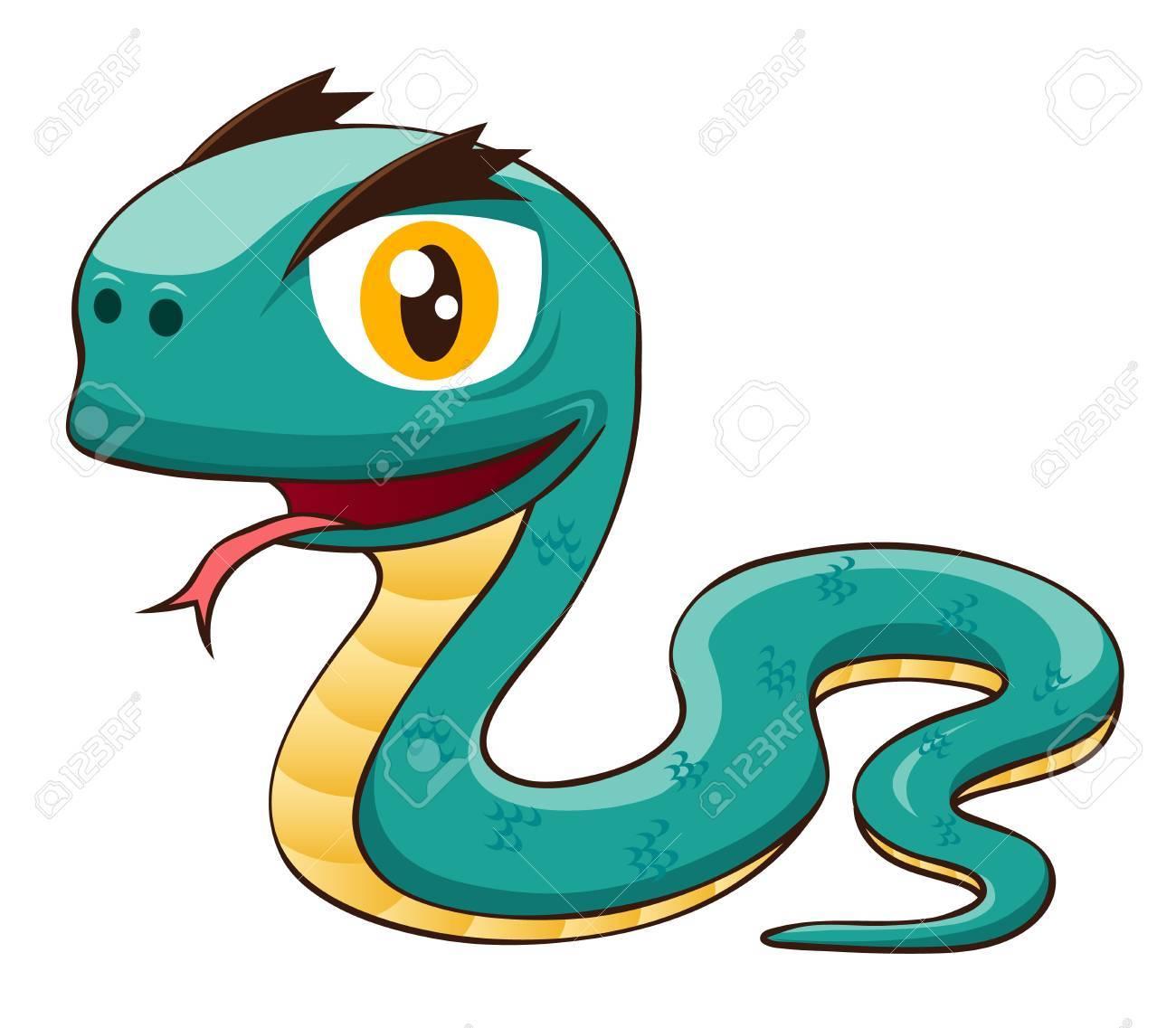 illustration of Cartoon snake Stock Vector - 15695887