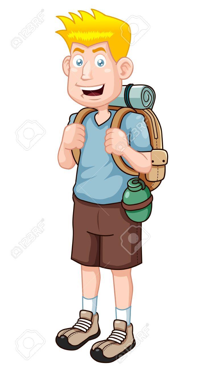 illustration of Cartoon Tourist Vector version Stock Vector - 15695885
