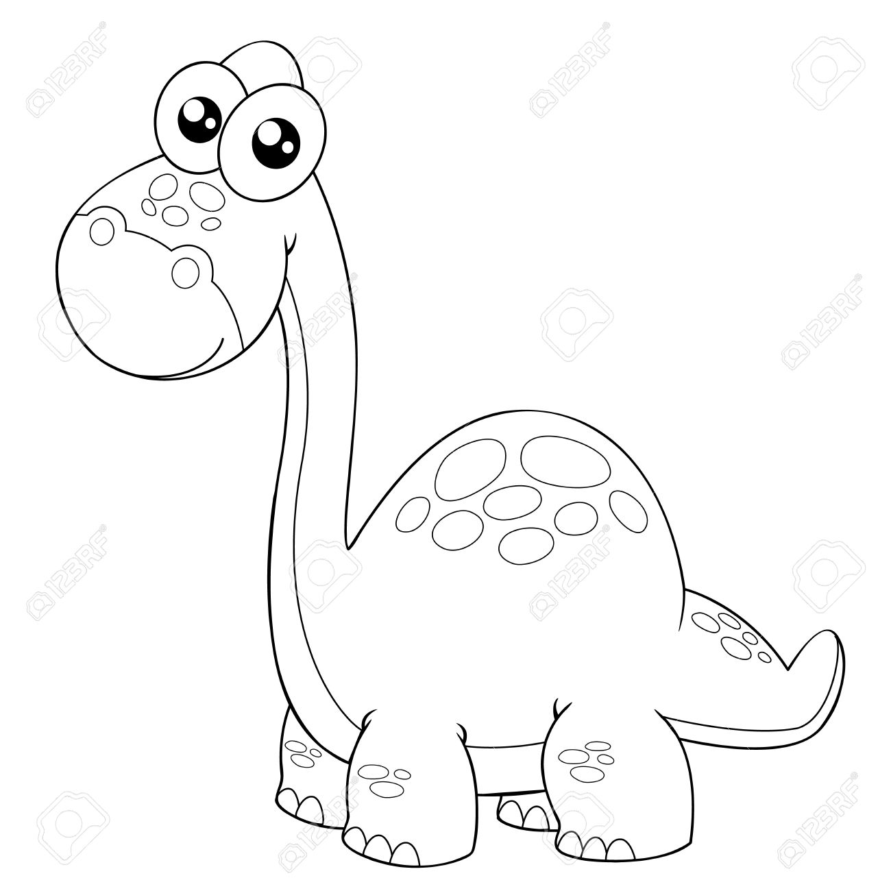 illustration of cartoon dinosaur outline stock vector 16212239