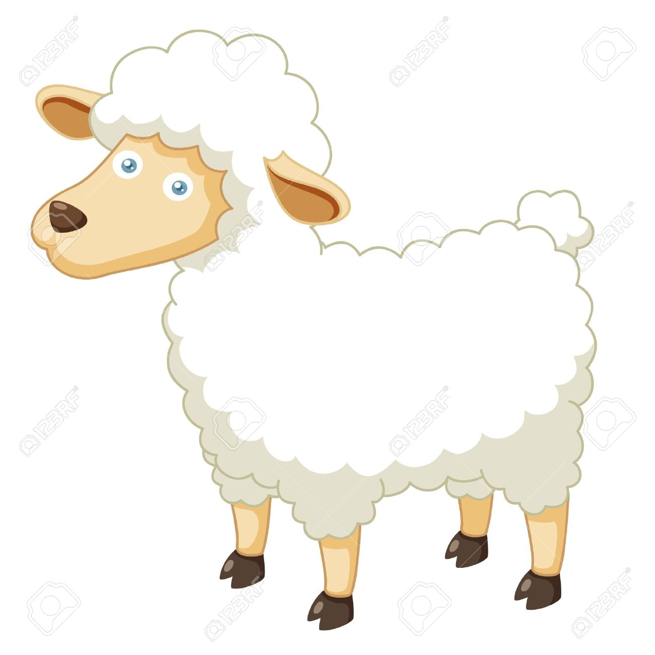 Illustration of a cartoon sheep Stock Vector - 16209322