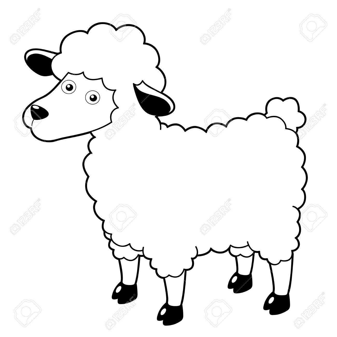 illustration of a cartoon sheep royalty free cliparts vectors and rh 123rf com sheep vector silhouette sheep vector image