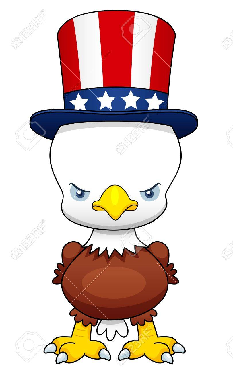 illustration of Cartoon American patriotic eagle Stock Vector - 16392826