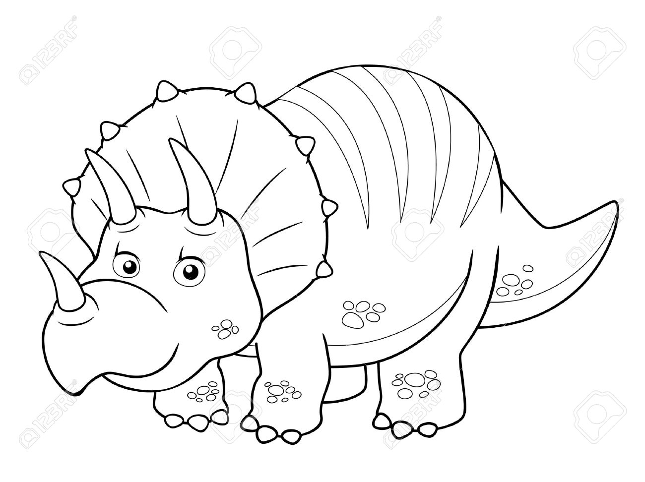 illustration of cartoon dinosaur outline stock vector 16392822