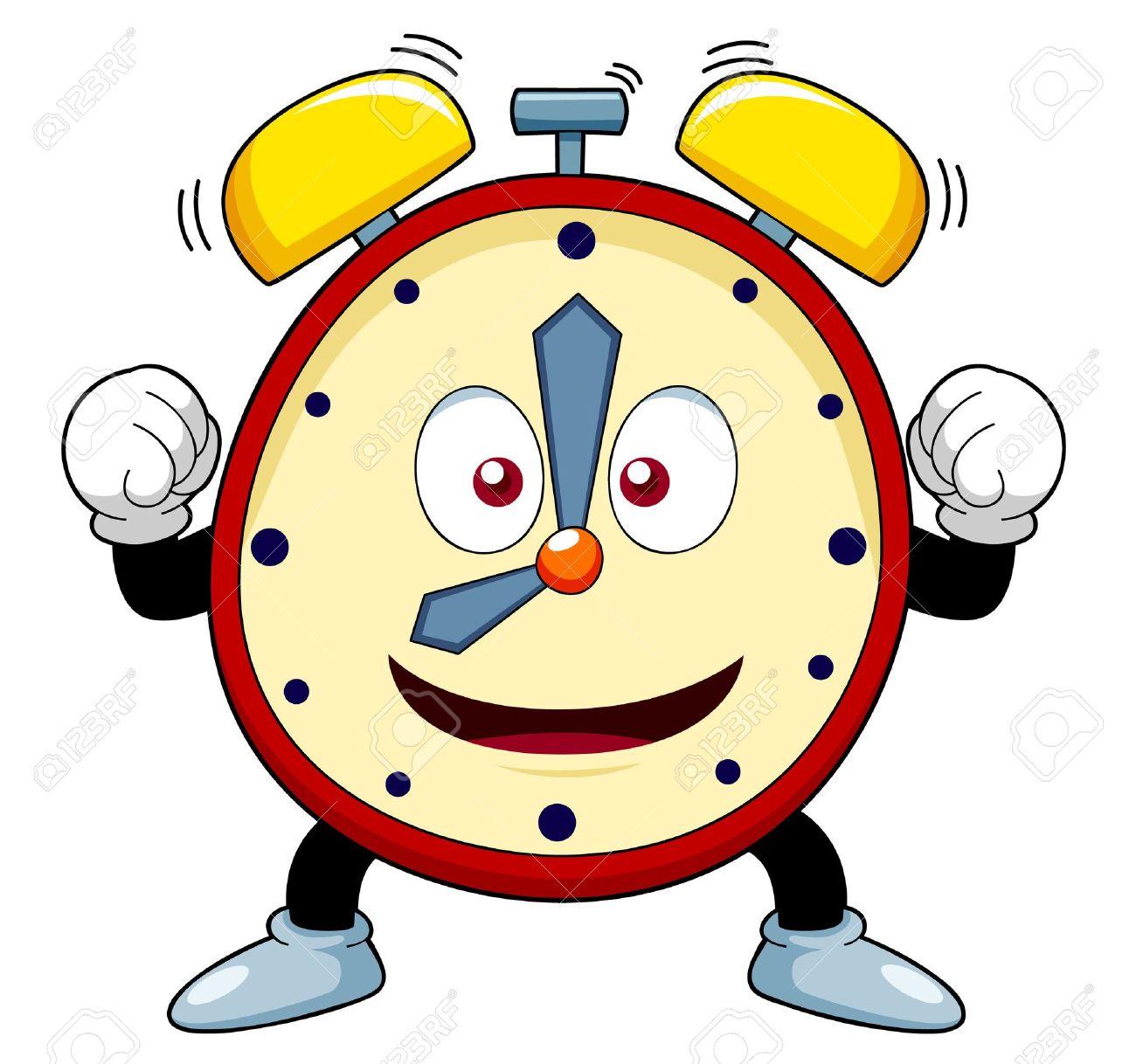 illustration of Cartoon alarm clock - 16608711