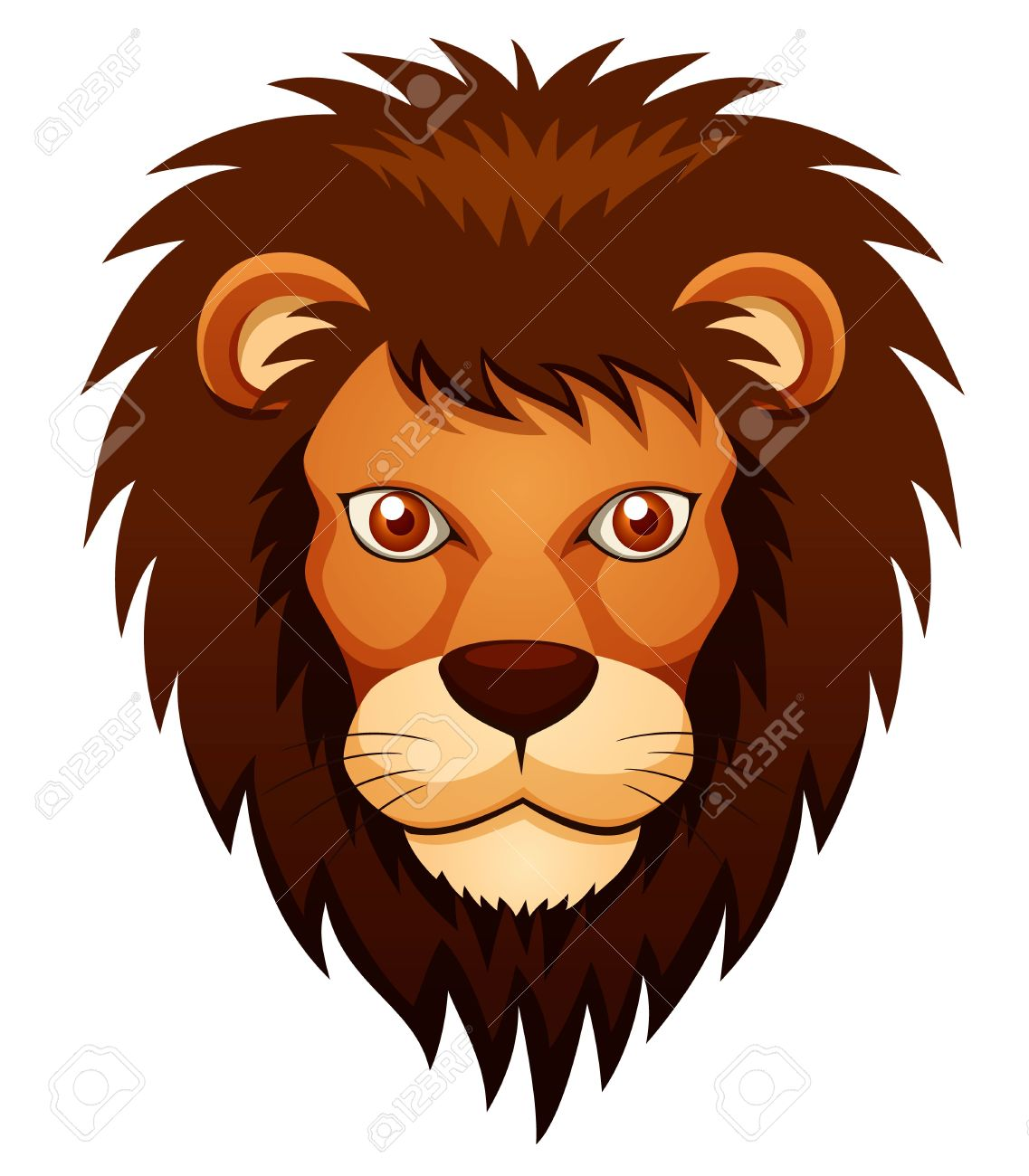 illustration of lion face royalty free cliparts vectors and