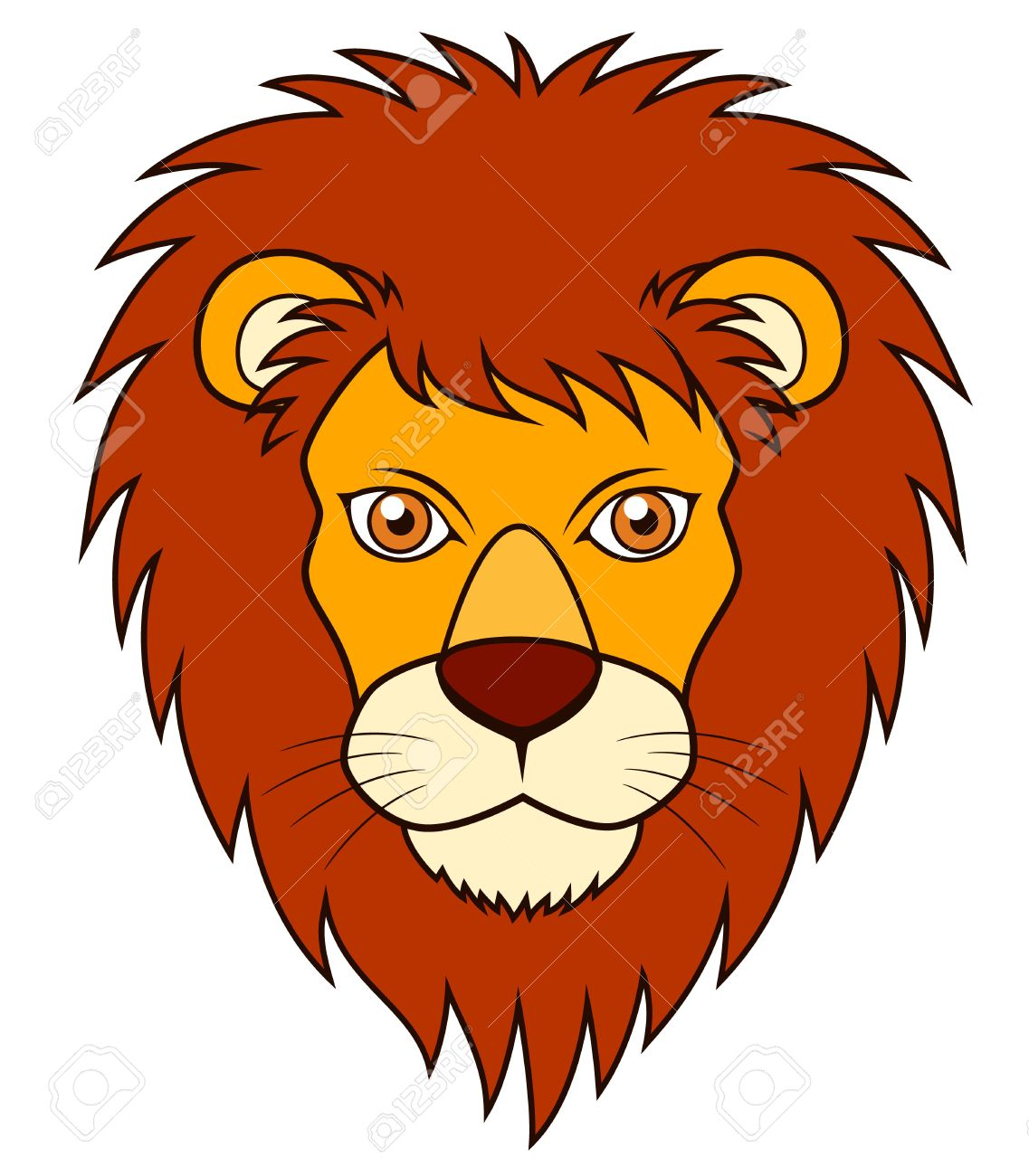 illustration of Lion face Stock Vector - 16715418