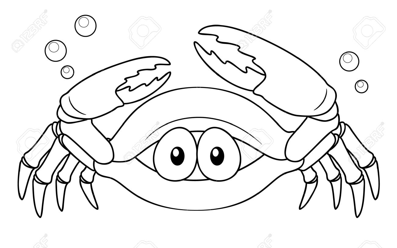 Illustration De Crabe Dessin Anime Coloring Book Clip Art Libres De Droits Vecteurs Et Illustration Image 16772032