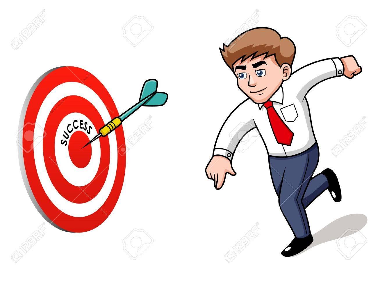 illustration of Businessman.Target. Success concept Stock Vector - 16835042
