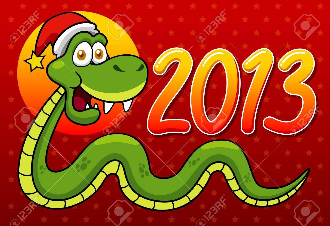 illustration of Cartoon snake - 2013 year Stock Vector - 16992098