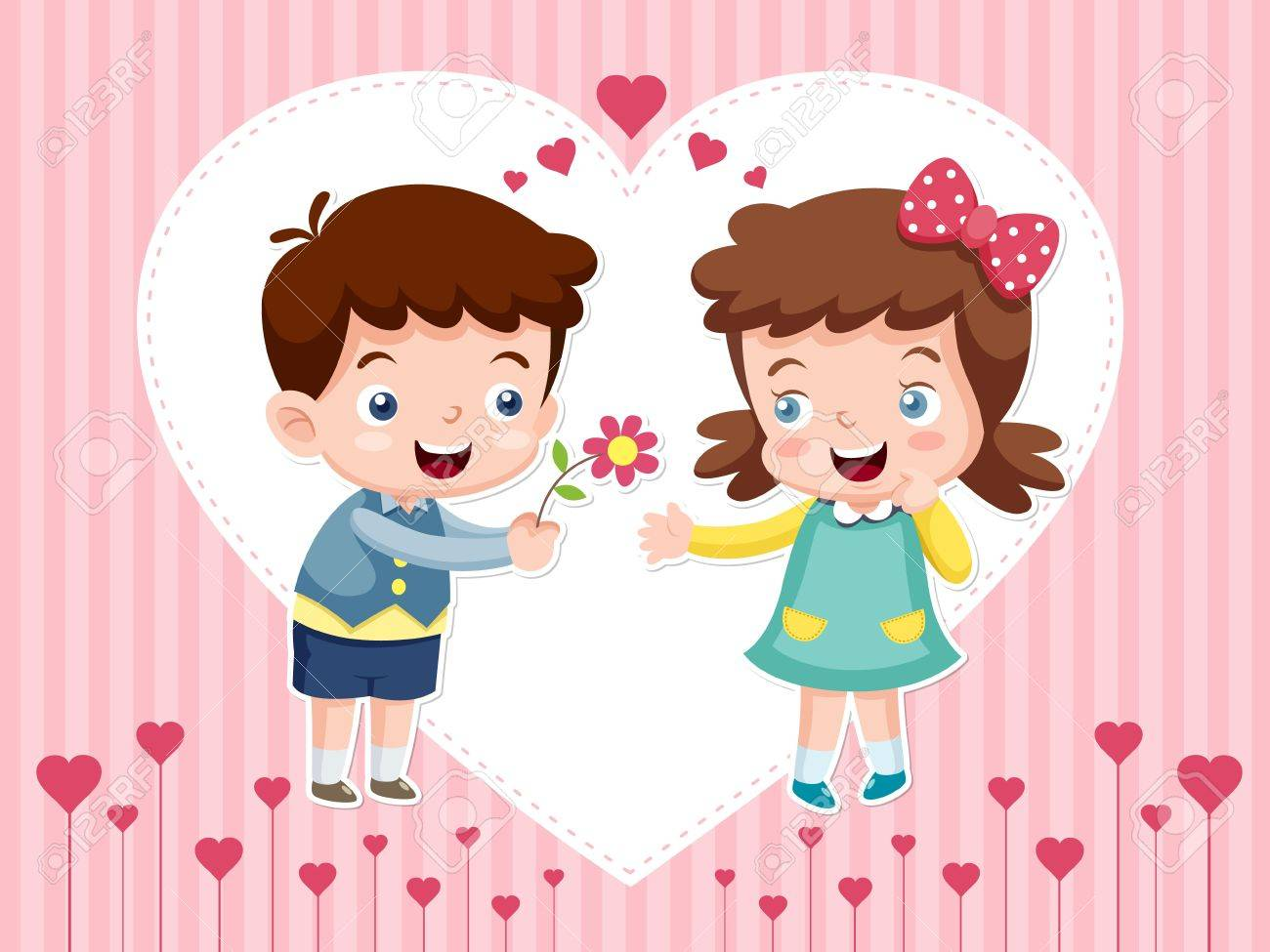 illustration of boy and girl Stock Vector - 16992095