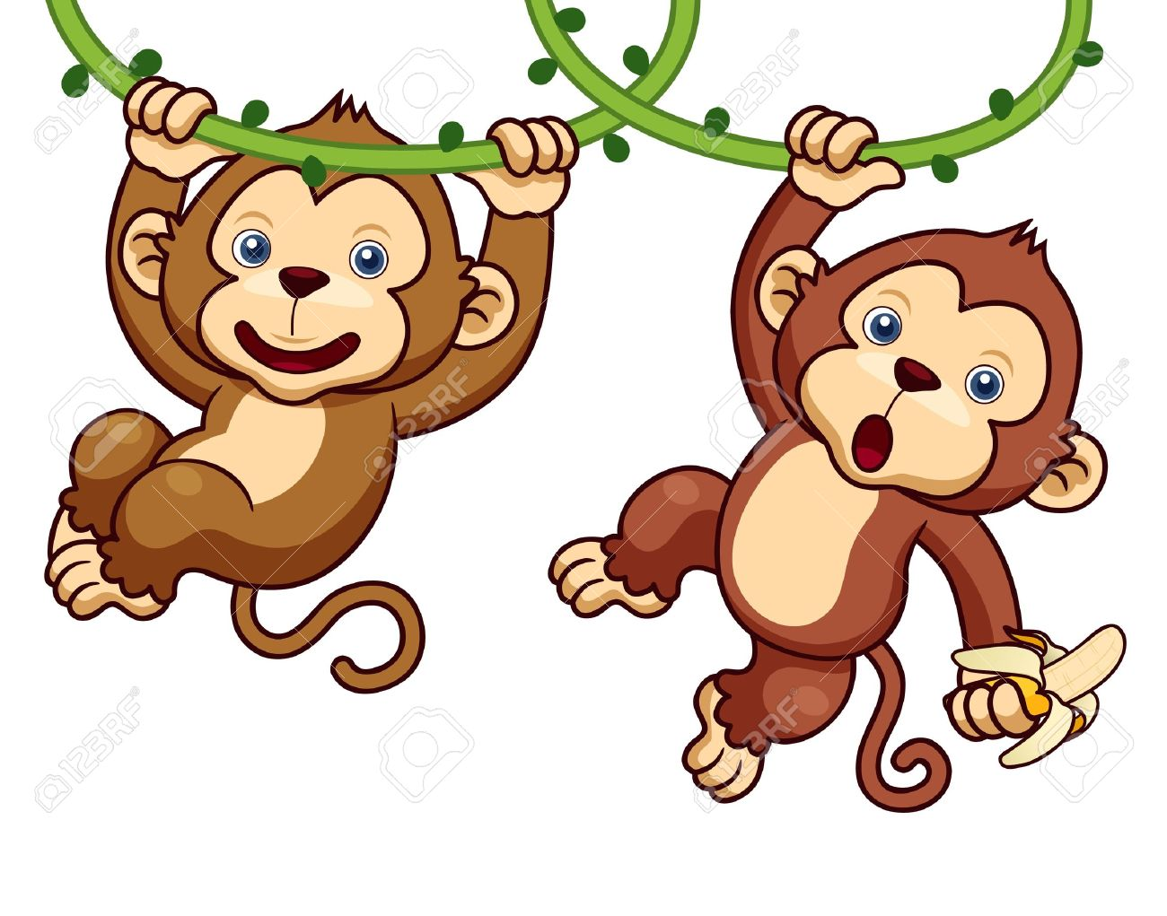 illustration of cartoon monkeys royalty free cliparts vectors and
